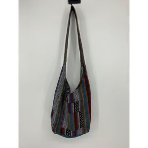 Boho striped hippie crossbody purse bag